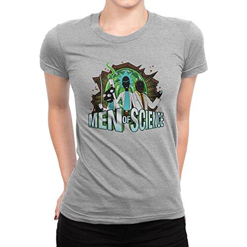 Planet Nerd - Men of Science - Damen T-Shirt, Größe S, grau - Futurama Cosplay Kostüm