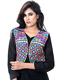 Banjara India Women's Jacket (SJK-BLT04_Blue_Free)
