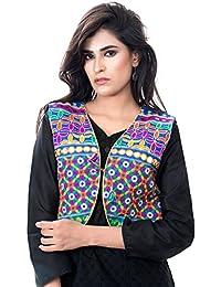 Banjara India Women's Jacket (SJK-BLT04_Blue_Free)