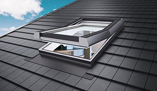 Skylight Premium Dachfenster mit Dauerlüftung PVC 94 x 98 mit Eindeckrahmen