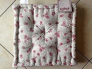 beatrice roselline quadratisches sitzkissen im provenzalischen landhausstil typ. Black Bedroom Furniture Sets. Home Design Ideas