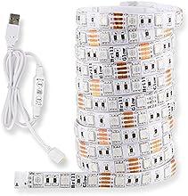 Cinta de Luz de LED, Mego , iluminación de luz para TV de pantalla plana, impermeable, iluminación para juegos de luz de fondo para computadora Laptop, cortable, cable de 60 piezas de