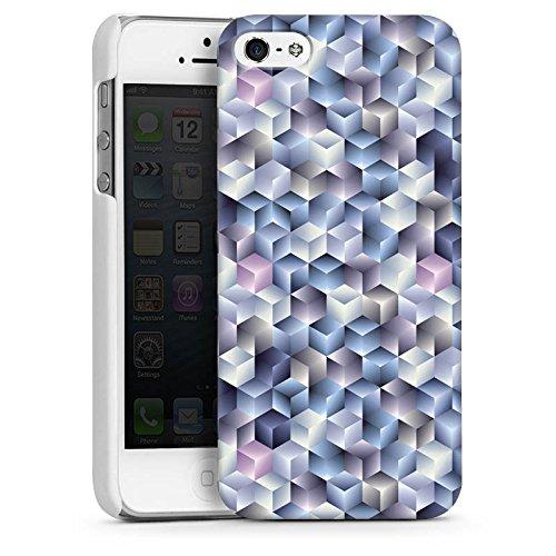 Apple iPhone 4 Housse Étui Silicone Coque Protection 3D Effet d'optique Pastel CasDur blanc