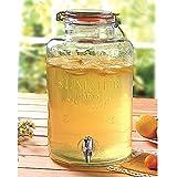 Buri Getränkespender aus Glas 8L Wasserspender Getränke-Portionierer Saftspender