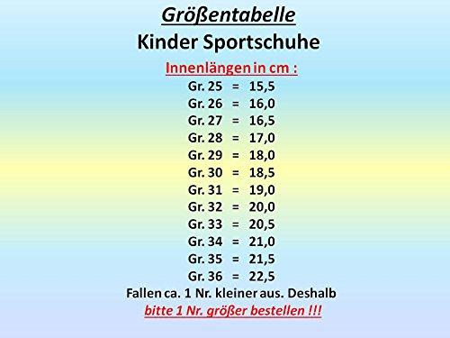 GIBRA® Kinder Sportschuhe, mit Klettverschluss, neongrün, Gr. 25-36 Neongrün