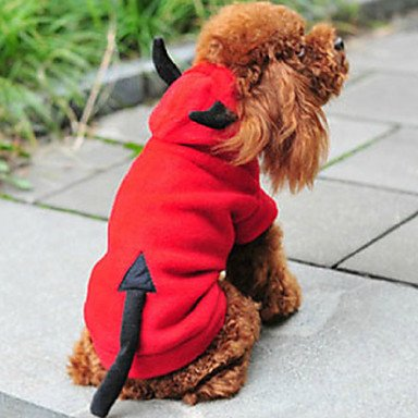 Y-Hui Katze/Hund Kostüm/Hoodie Red Dog Kleidung Winter/Frühling/Herbst Engel &Amp; Teufel Süß/Weihnachten/Neues Jahr'S, M, L, XL, Rot