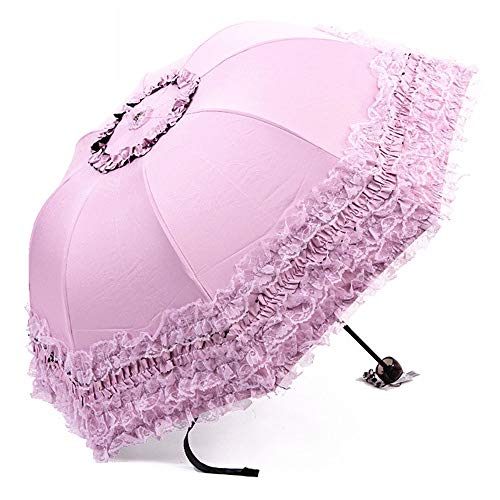 Princesa Encaje Vintage Cordón UV Parasol Plegable