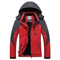 mochoose women's outdoor mountain waterproof windbreaker fleece ski snow hooded jacket sportwear rain coat camping fishing hunting working jacket