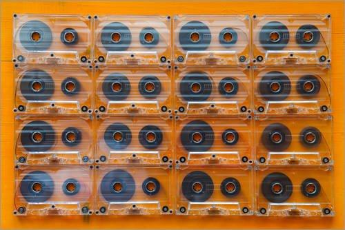 Póster 120 x 80 cm: Transparent Audio Cassettes de Editors Choice - impresión artística, Nuevo póster artístico