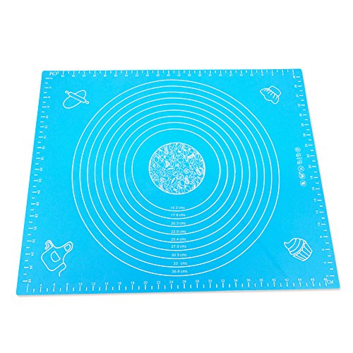 Black Friday Deal Silicone Baking Mat, Nonstick Measurements Fondat Dough Pastry Bake Mats for Housewife Cooking Enthusiasts 50*40cm (BLUE)