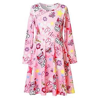 Jxstar Mädchen A-Linie Kleid 13 Jahre, A-Linie, rosa, JXGDSAM70221PIK-150