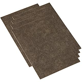 Adsamm® | 5 x Self-adhesive furniture felt plates | felt pads | 7,87'' x 11,81'' (200x300 mm) | brown | rectangular | self-adhesive furniture glides 0.138'' / 3.5 mm thick in top-quality by Adsamm®