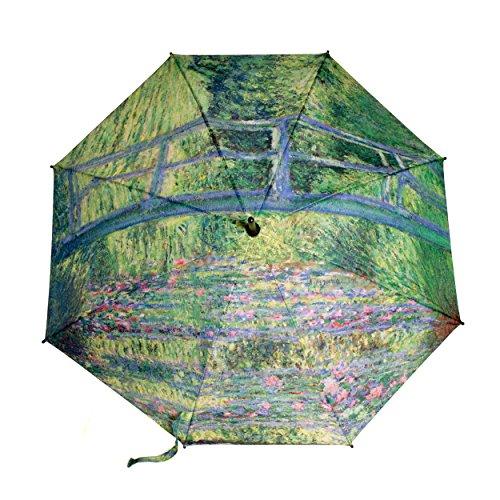 Stockschirm Kunst-Motiv Claude Monet Gemälde Regenschirm - Rosemarie Schulz (Grün)