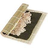 EQLEF® Sushi Rouleau Bamboo DIY Sushi Mat Onigiri Riz Roller Hand Maker Sushi Outils Accessoires de cuisine