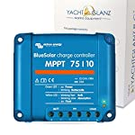 Colour name: 1. Bluesolar charge controller mppt 75/10 ultra-fast maximum power point tracking (mppt) batterylife: intelligent battery management resin encapsulated electronics: protects theponents against the environment