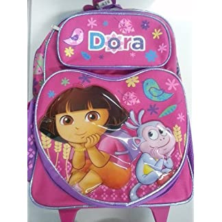 Dora the Explorer Gran Rolling Backpack 16 'bolso de escuela nueva Niñas 634506