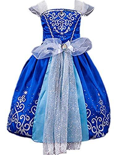 Prinzessin Kleid Grimms Märchen Kostüm Cosplay Mädchen Halloween Kostüm Cinderella ()