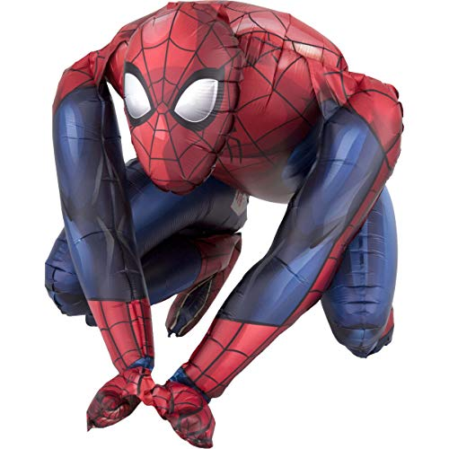 amscan 3819401 Spider-Man Folienballon Sitter Spiderman, Mehrfarbig