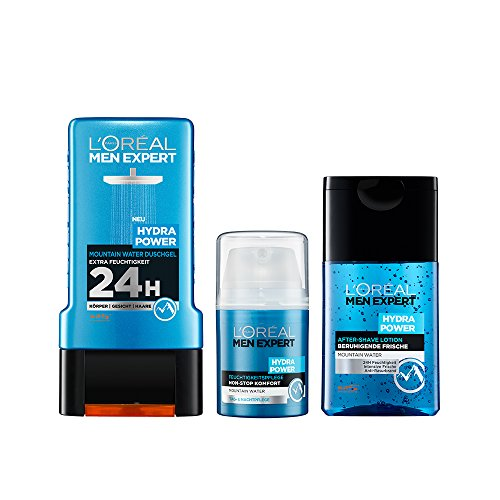L'Oréal Men Expert Aftershave + Men Expert Rasier-Gel + Men Expert Hydra Energy Xtreme Reinigungsgel -