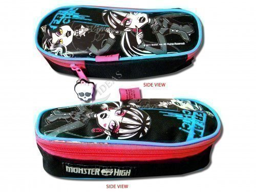 Image of Kids Childrens Girls Monster High Coffin Pens Pencil Case School Stationary Gift