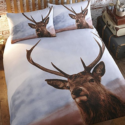 thru-the-lens-highland-stag-deer-double-bed-quilt-duvet-cover-bedding-set-and-2-pillowcases-white-br
