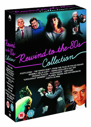 Bild von Rewind To The 80S Collection (Footloose, The Naked Gun, Beverly Hills Cop, Ferris Bueller's Day Off, Trading Places, Flashdance, Airplane!, Crocodile ... Trains and Automobiles, Pretty In Pink) [UK Import]