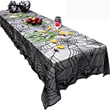 HKFV Halloween Spider Round Web Tischdecke Topper Covers Kamin Tisch Party Dekor Tischdecke Tapete