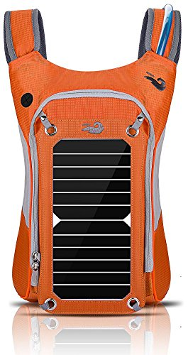 Outdoor Pack Computer Solar Powered Rucksack (Orange)