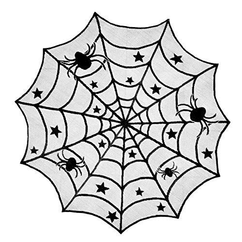 Halloween Supplies Spitze Spiderweb Design Table Cloth Geisterfest Net Tischdecke Partei 1pc Schwarz 102cm Supplies