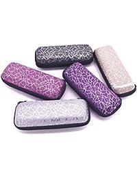Freshsell - Caja de Gafas con Cremallera, diseño de Rayas, Unisex, protección para Gafas de Sol, contenedores portátiles
