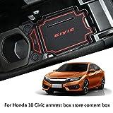 Sostituzione per Honda Civic 10 Gen 2016-2018 Box bracciolo Organizzatore vassoio Monete portafoglio telefono Storage Box Pallet Inserire