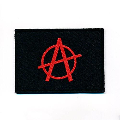 50x 37mm Anarchy anarchia Bandiera Flag Emblem toppa 0857a
