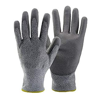 Gardening Gloves Thorn-proof Garden Breathable Wear-resistant Work Labor Protective,Grey-M