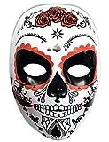Rubies- Mascara calavera Katrina con rosas Día de los Muertos, Talla...