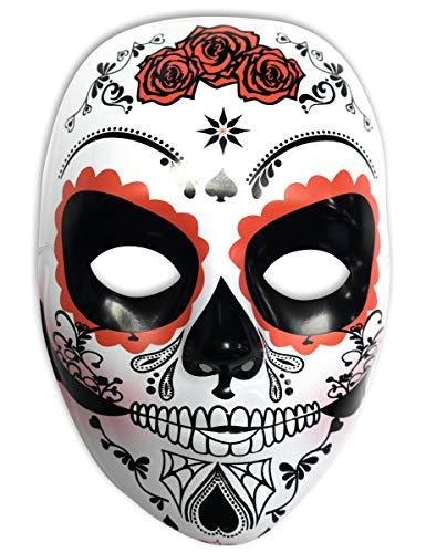 Rubies- Mascara calavera Katrina con rosas Día de los Muertos,...