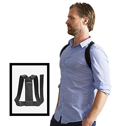 SWEDISH POSTURE® FLEXI Schwarz XXL - Geradehalter zur Haltungskorrektur für Damen und Herren. | gegen Rückenschmerzen | für Muskelaufbau | weniger Verspannungen | mehr Selbstbewusstsein | inkl. Erklärvideo