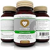 ManeMan Premium Lean Lion - Supplementi Premium per aumentare l'energia • Brucia grassi • Perdita di peso naturale • Pillole dimagranti • Supplemento naturale • 60 Capsule • Prodotte nel Regno Unito