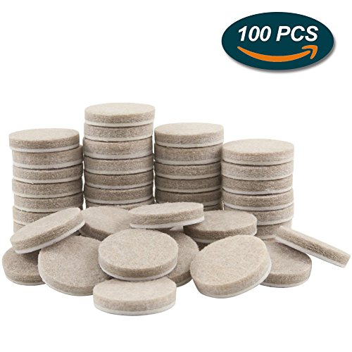 Felt Pads, Lookka 25 Mm Round Heavy Duty Premium Self Adhesive Furniture  Pads To Protect