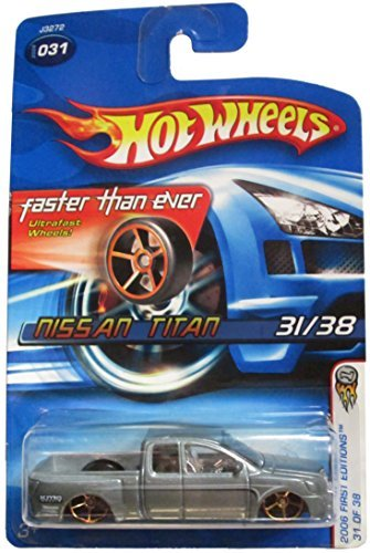 hot-wheels-2006-first-editions-31-of-38-nissan-titan-silver-with-faster-than-ever-wheels-2006-031-by