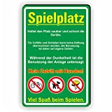 SPIELPLATZ - Haltet den Platz und die Geräte Sauber - keine Hunde - SCHILD / D-038 (30x45cm Schild)