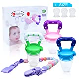 Edealing New Nipple Fresh Food Milk Nibbler Feeder Feeding-Tool Sichere Baby & Supplies Spielzeug Packung mit 3