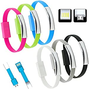 Eye-catching Bendy & Durable Short Micro USB Data Charging Sync Cable . New Design 2015 for Power Banks. Innovative data charging cable for simple to use or as Gift. Data Sync Charger Bracelet For Motorola RAZR V XT889and many other android smart phones. Non-Retail Packaging ( Pack of One in any color )