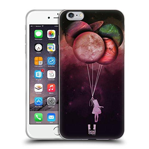 Head Case Designs Luftballons Mondreise Soft Gel Hülle für Apple iPhone 7 / 8 Luftballons
