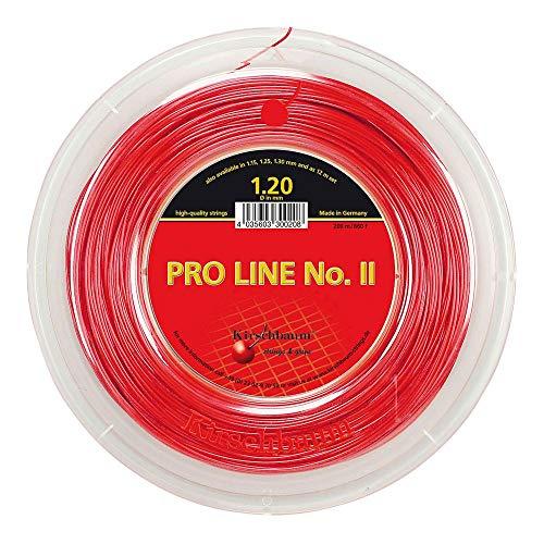 Kirschbaum Pro Line 2-Seil, Tennis, Rot Rot rot 1,25 mm x 200 m -