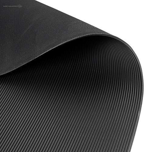 Feinriefenmatte   2m² 1,2 x 1,67m [Größe + Farbe wählbar] Stärke: 3mm   Farbe: Schwarz