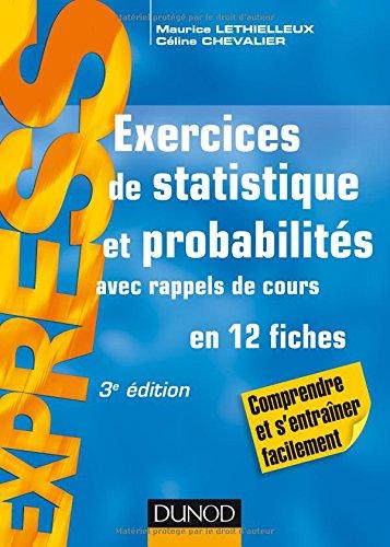 Exercices de statistique et probabilités - 3e éd. - Avec rappels de cours