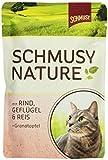 Schmusy Katzenfutter Natures Menü Rind+Geflügel 100 g, 24er Pack (24 x 100 g)