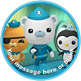 """ND1 The Octonauts birthday Personalised Round Cake Topper approx 7.5"""" (or smaller on request) on Icing"""
