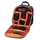 #1: Brain Freezer DSLR/SLR Camera Lens Shoulder Backpack Case For Canon Nikon Sigma Olympus Camera (Orange)
