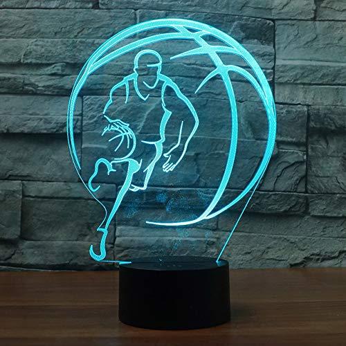 3D Basketball Optische Illusions Lampe 7 Farben Touch-Schalter Illusion Nachtlicht Für Schlafzimmer Home Decoration Hochzeit Geburtstag Weihnachten Valentine Geschenk